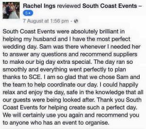 Dorset Wedding Planning Testimonial