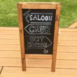 A frame chalk board for hire